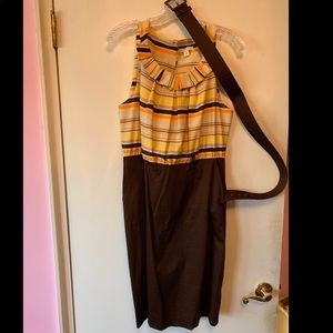 Brown Spring Dress with Belt